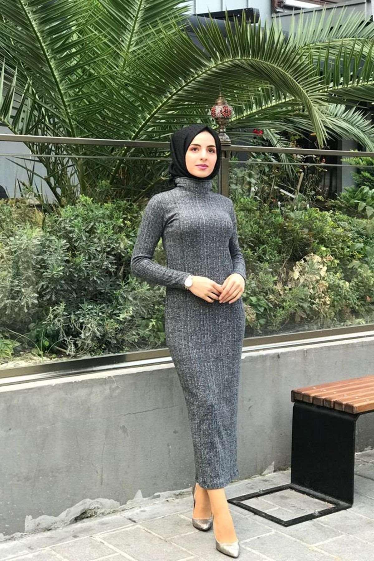 Fitilli Kalem Elbise - FÜME