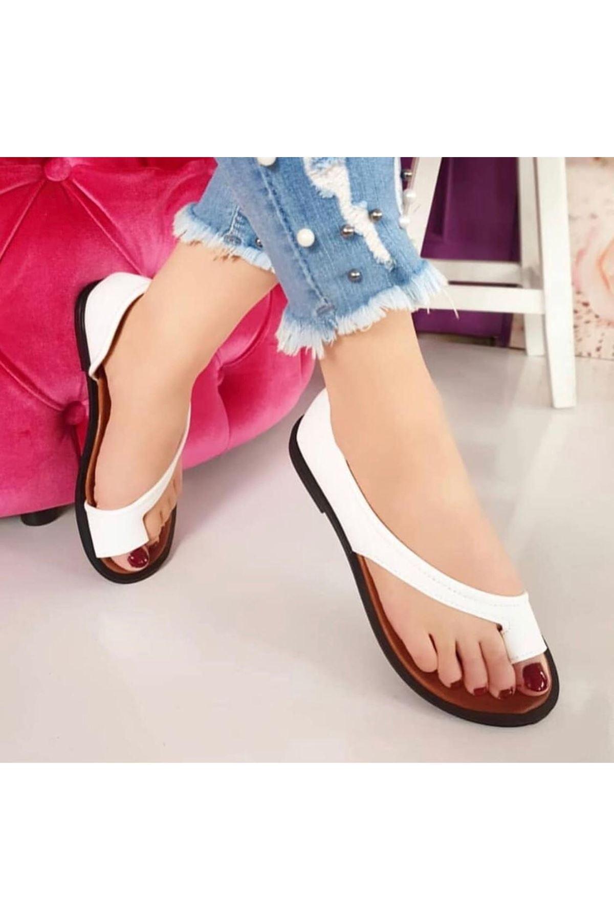 Moda Yazlık Ayakkabı - BEYAZ