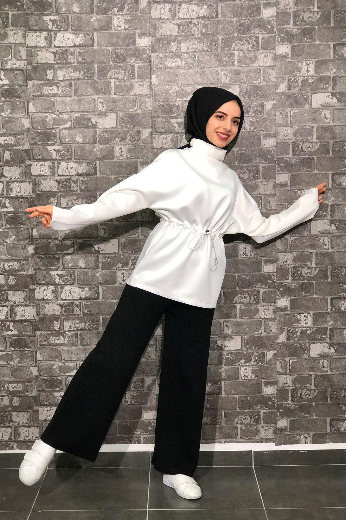 Triko Pantolon - SİYAH