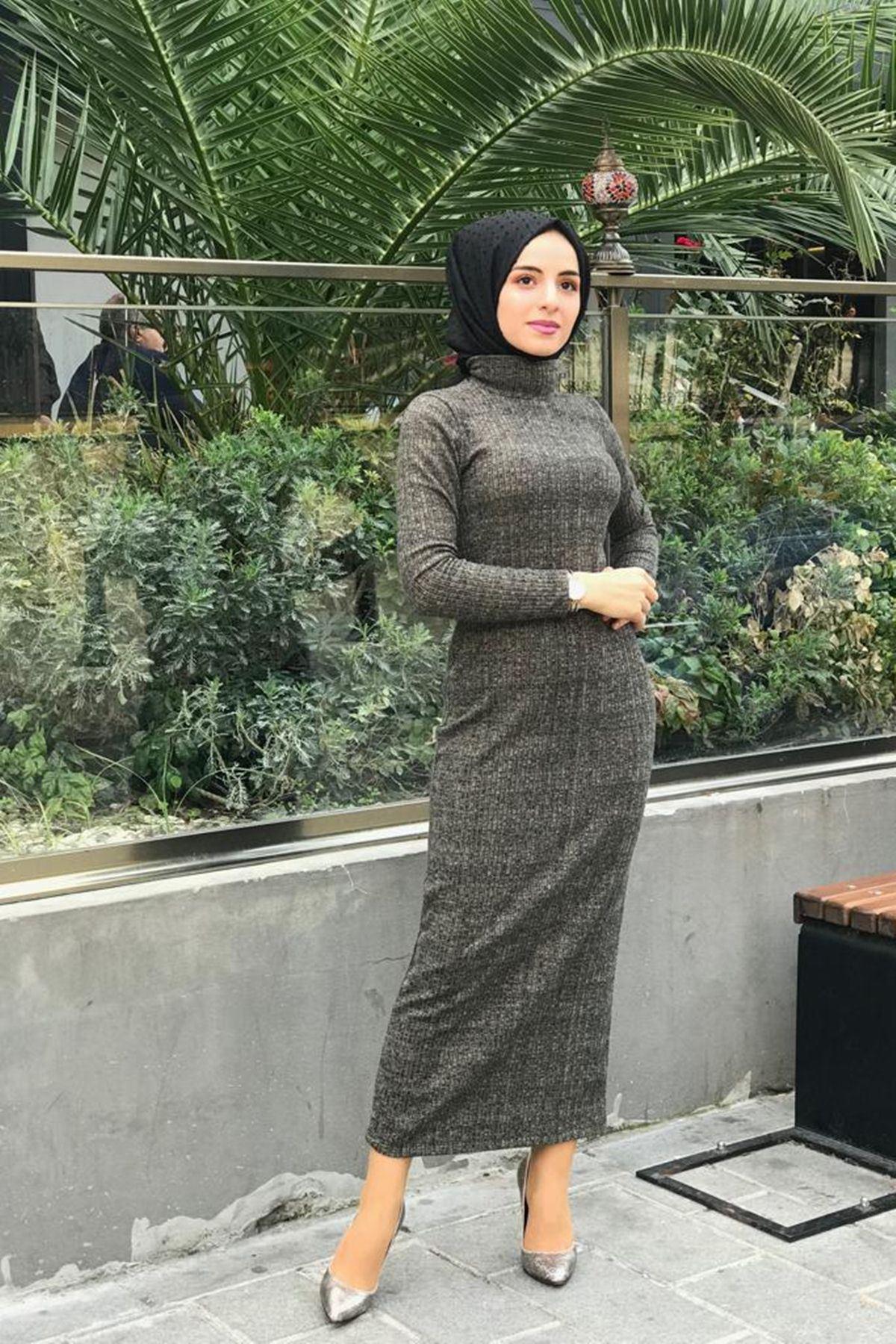 Fitilli Kalem Elbise - HAKİ