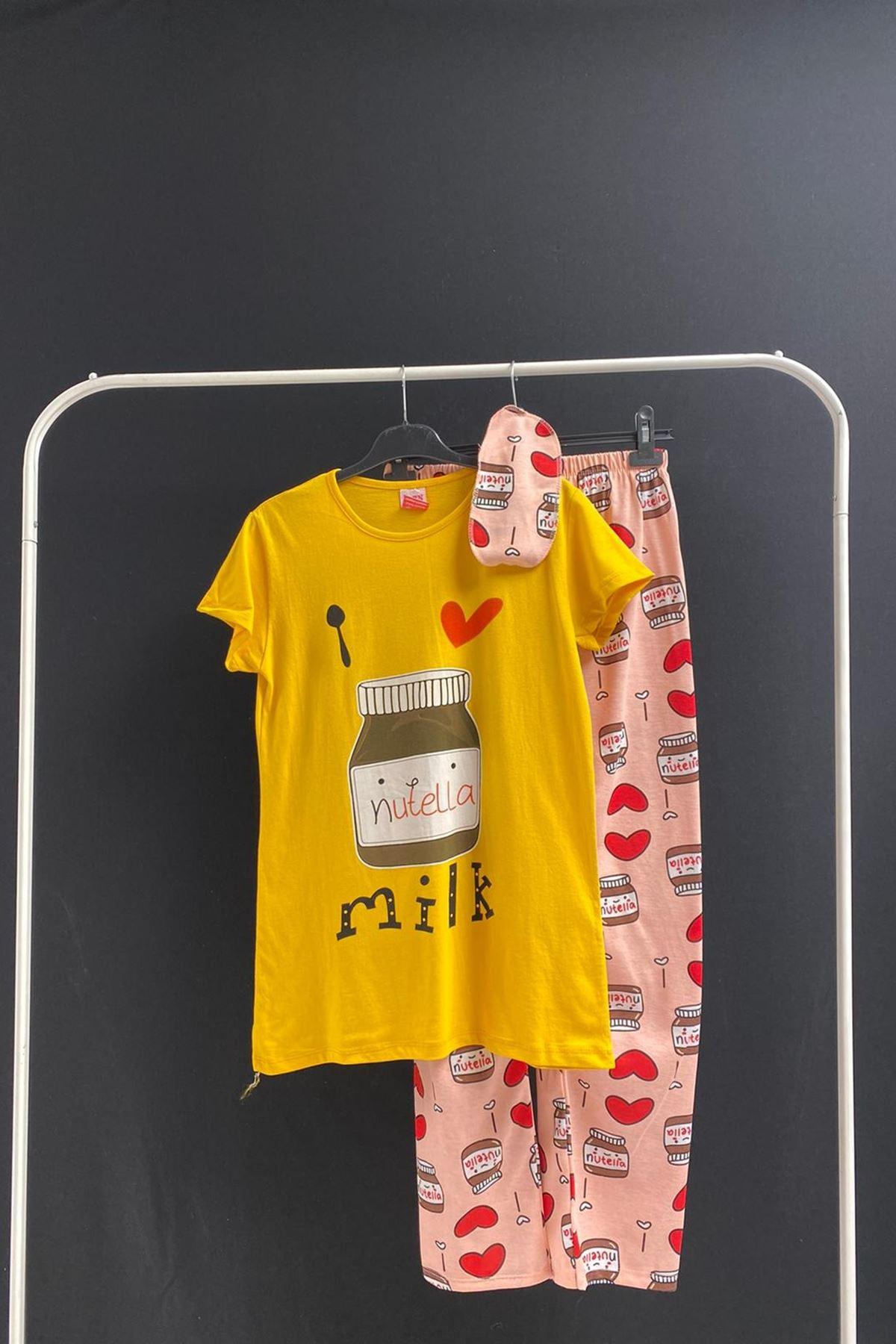 Lotus Pijama Takımı -Sarı