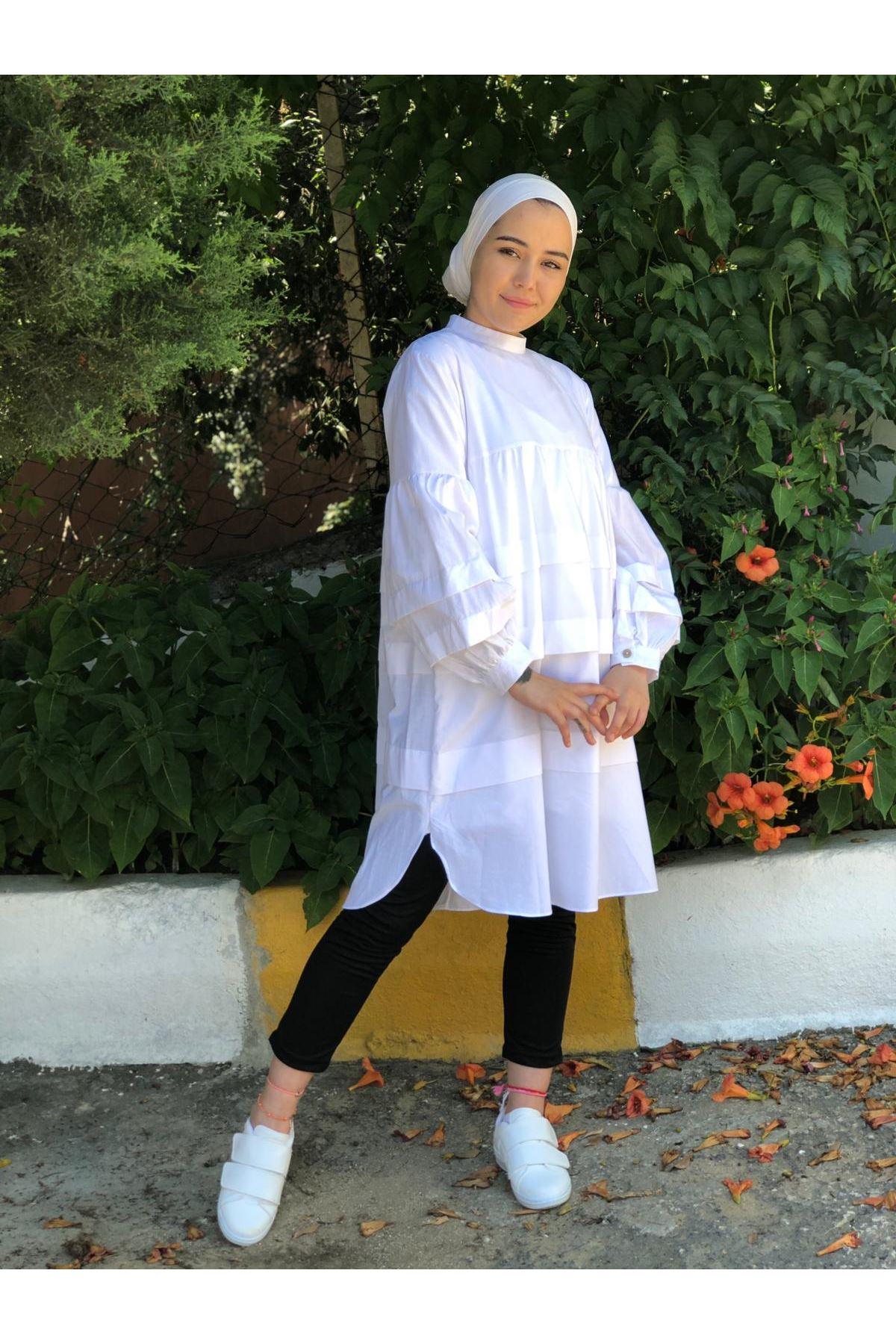 Elif Mevlana Tunik - Beyaz