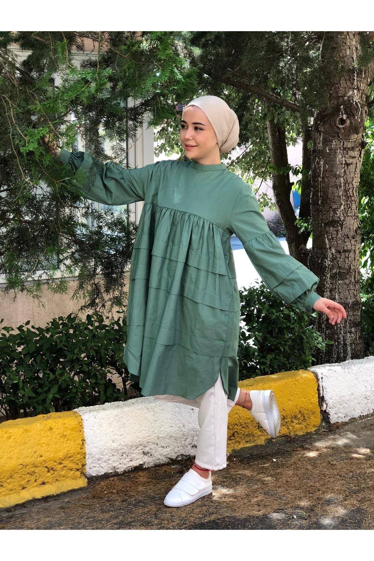 Elif Mevlana Tunik - Çağla Yeşili