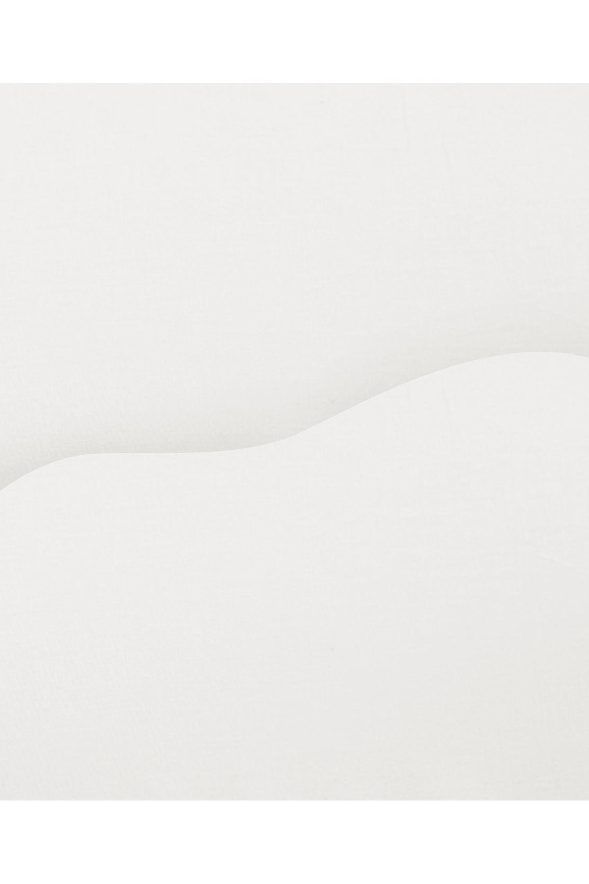 Evimce %100 Organik Pamuk Nevresim Takımı Duz Carsaflı Cift Kisilik Bordo