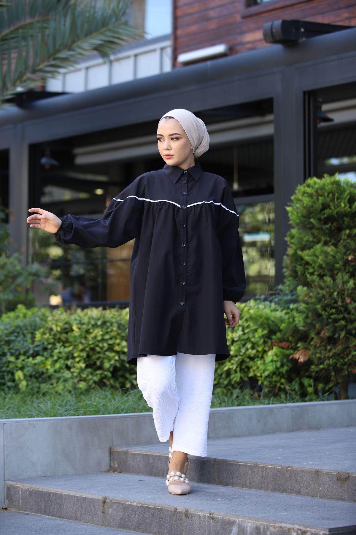 Riva Tunik Gömlek - Siyah
