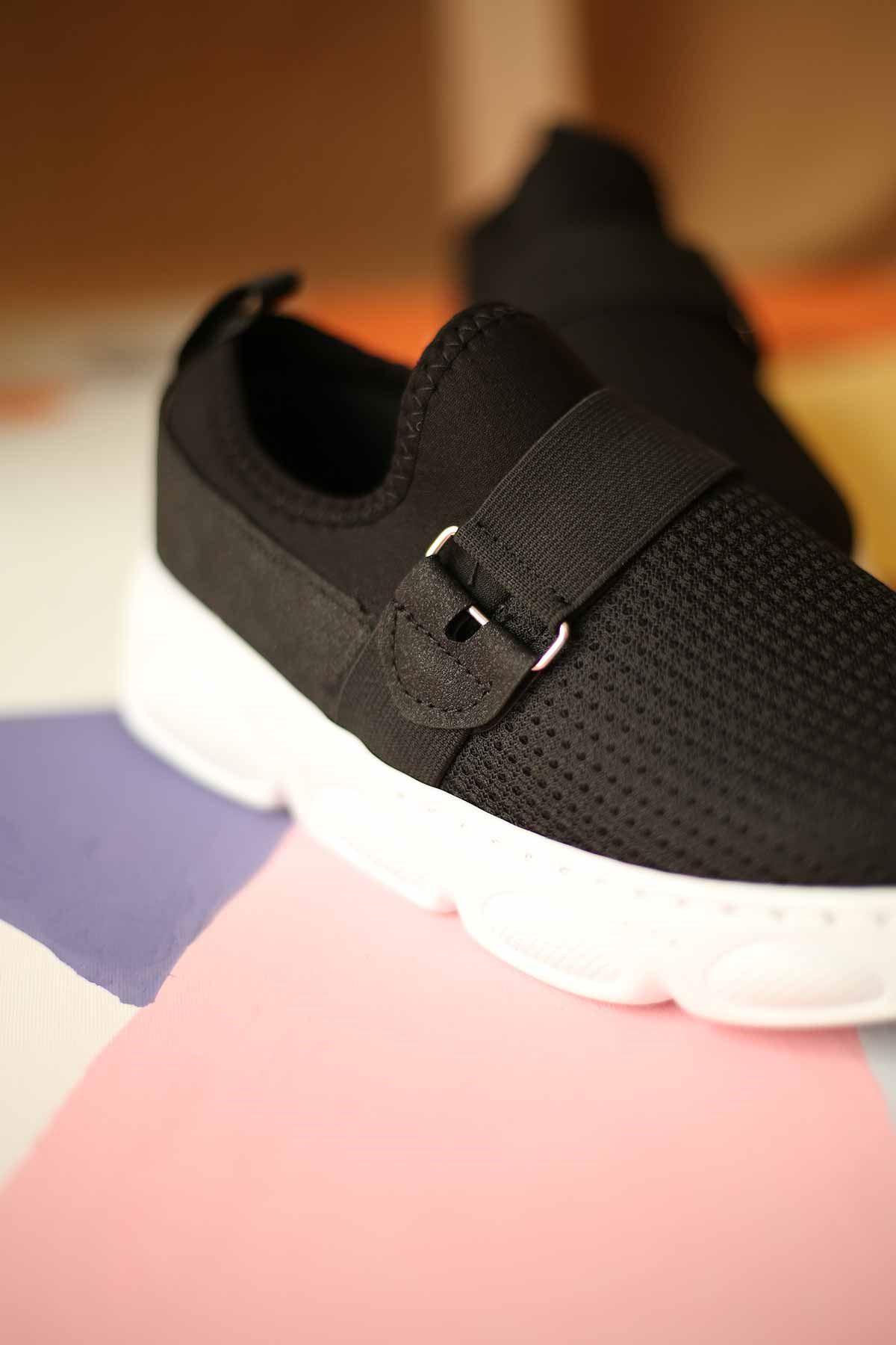 Bez Spor Ayakkabı - Siyah