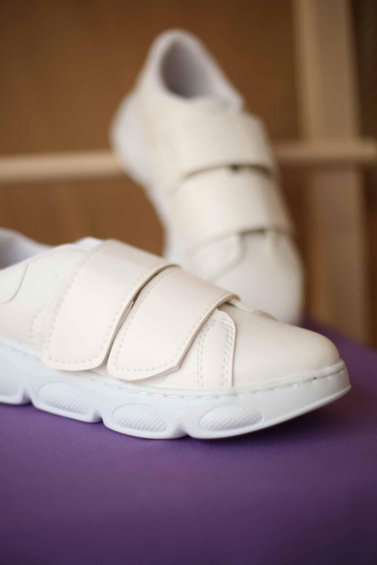 Yüksek Taban Spor Ayakkabı - Beyaz