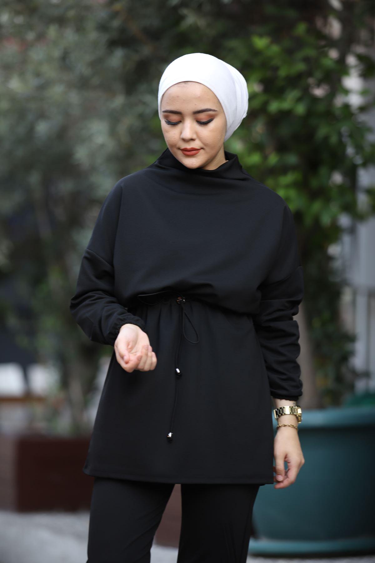 Alya Tesettür Takım - Siyah