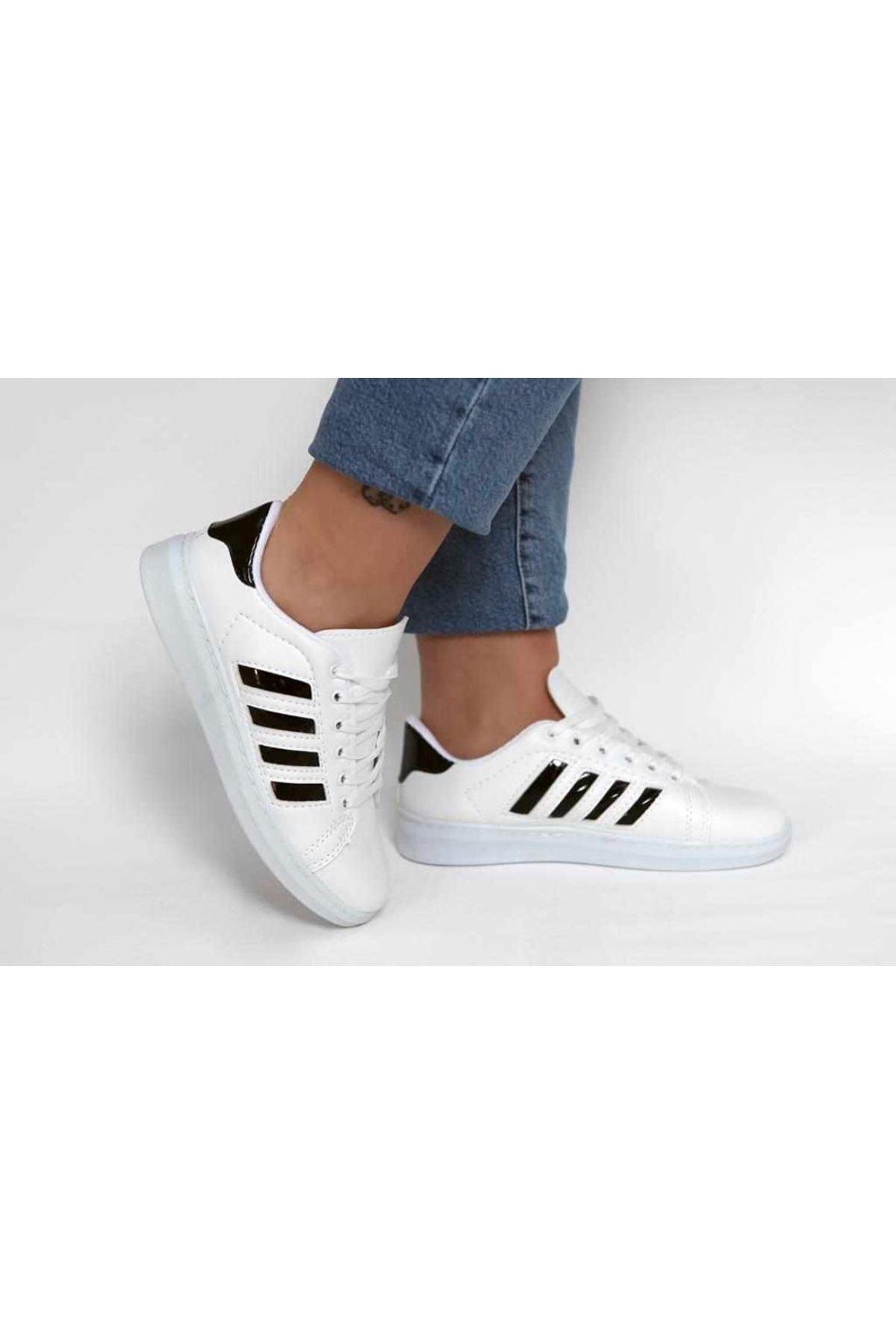 Süperstar Şeritli Spor Ayakkabı - Beyaz&Siyah