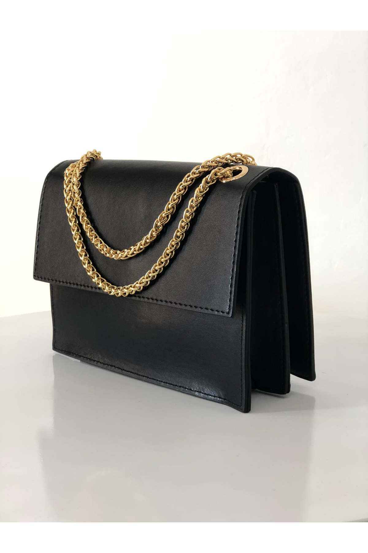 Zincirli Kutu Çanta- Siyah
