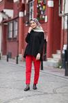 Duble Paça Havuç Pantolon - Kırmızı