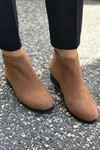 Fermuarlı Yarım Çizme - TABA