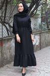 Erva Tesettür Elbise - SİYAH