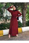 Nura Büyük Beden Tesettür Elbise - Kırmızı