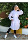 Hemşirem Kuşaklı Tunik - Beyaz