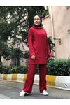 Pantolonlu Fitilli Takım - Kırmızı
