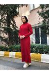 Fitilli Elbise - Kırmızı