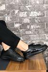 King Parlak Şeritli Spor Ayakkabı-Siyah